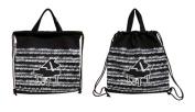 PartyErasers Music Themed Classic Black Grand Piano Design Drawstring bag