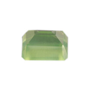 Green Prehnite Octagon Faceted .  Lot 2.12 ct 8x6x4.9 mm