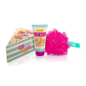 A SLICE OF CAKE WASH SET BODY WASH & PUFF GREAT FOR BAKE OFF FANS
