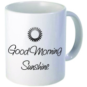 Rikki Knight Good Morning Sunshine Funny Ceramic Coffee Mug Cup, 330ml, White