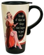 Laid Back CS11079 One of Those Bad Things Ceramic Travel Mug, 350ml