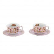 Cardew Design Chocolates Cup & Saucer (Set of 2), 240ml, Multicolor
