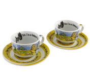 Cardew Design Wizard of Oz Cup & Saucer (Set of, 240ml, Multicolor