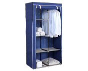 HDS Trading SC49158 Sunbeam Storage Closet With Shelving, Navy