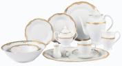 Lorenzo Import Catherine 57-Piece Wavy Porcelain Dinnerware Set