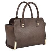 Ohio Handbag Ladies Fashion Purse Shoulder Bag Strap PU Leather Style Women Tote