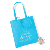 I'M A WAITRESS WHAT'S YOUR SUPEROWER. Cotton Tote Bag Gift Bag Christmas Xmas Present Keepsake