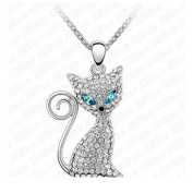 "My.Monkey ""Electric Eye Cat"" Girl Fashion Personality Top Grade Gift Crystal Necklace"