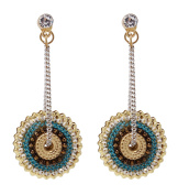 Bohemian Style Handcrafted Disc Earrings