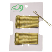 """30pcs 48mm (1.8"""" inch) traditional metal bobby kirby wavy grips/ pins, Golden Blonde"""