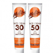 Malibu Sun Face Cream Protection 40 ML Tubes - 2 Different SPF Factors To Choose From -