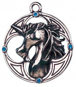 Plantaganet Unicorn for Protection & Prosperity Celtic Sorcery Amulet Talisman Pendant