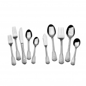 Towle 5192135 45 Piece London Shell 18/10 Flatware Set (Service for 8), Stainless Steel