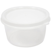 Nicole Home Collection 10 Count Mini Storage Containers Round, 70ml, White