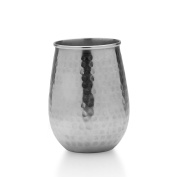 Mikasa Silver-Plated Hammered Stemless Goblet, 560ml