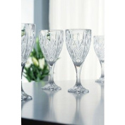 Belleek Pottery Galway Crystal Abbey Goblet, 20cm , Clear, Set of 4