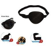 Medical Concave Eye Patch Foam Groove Washable Eyeshades Adjust Strap Kids/Adult