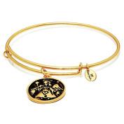 "Chrysalis ""Angel"" Gold Plated Expandable Bangle Bracelet"