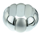 S.Michael Designs Stainless Steel Bold/Brush Stretch Bangle
