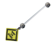 Baby On Board Pregnancy Belly Bar 1.6 x 25 mm PTFE Can Be Shortened