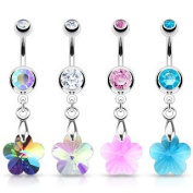 Emeco® Crystal Prism Flower Belly Bar with NSX 7421