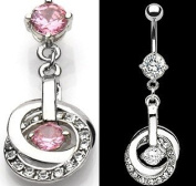 BELLY BUTTON PIERCING NSR6339 PC PINK