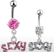 Sexy Belly Bar Piercing NSC171/P Pink