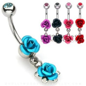 SET OF 2 FLORAL BELLY BUTTON PIERCING NSQ0292