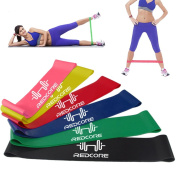 MultiWare Resistance Bands Exercise Loops Yoga Pilates Set of 6