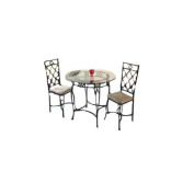 Essential Décor Entrada Collection 5-Piece Dining Set with Temper Glass