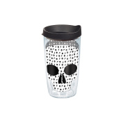 Tervis Black and White Skull Wrap Tumbler with Black Lid, 470ml