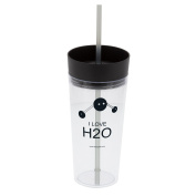 """Lab Rat Gifts TR003 AS Plastic """"I love H2O"""" Large Tumbler, 650ml"""