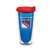 "Tervis 2762150cm NHL New York Rangers"" Tumbler with Red Lid, Emblem, 710ml, Sapphire"
