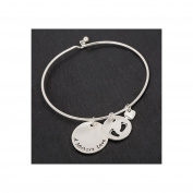 Equilibrium Silver Plated Mothers Love Disc Bangle