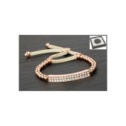 Equilibrium Rose Gold Plated Diamante Bling Friendship Bracelet Clear