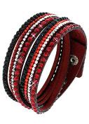 Emeco Look Wrap Bracelet Leather Bracelet Bracelet Strass crystal Wrap Bracelet AKB20