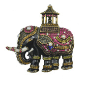 JewelleryClub Men Thiland Elephant Brooch Elements Crystal Vintage Brooches Pin for Suit