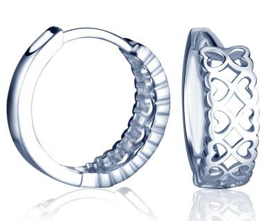 Yumilok Jewellery 925 Sterling Silver Infinity Hearts Hoops Creole Drop Earrings for Women/Ladies/Girls, Hypoallergenic