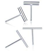 Yumilok Jewellery 2 Pairs 925 Sterling Silver Womens Mini Stick Bar Stud Earrings Dash Line Earrings, Hypoallergenic