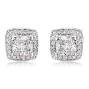 Ananth Jewels Curated Zirconia Solitaire Cushion Cut Radiant Earrings for Women