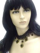 Lapeach Fashions Latest Gorgeous Elegant Filigree Beaded Choker Lace Choker