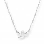 Sterling Silver Flying Ghost Necklace on 46cm Chain