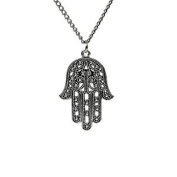 Minifamily® Fashion Hand Shape Pendant Necklace(1 Pc) Come With Free Unique Ring and Rubber Wrist Band