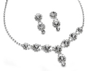 USABride Sparkling Crystal with Rhinestones, Necklace & Earrings Prom Jewellery Set 503