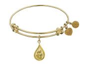 """Angelica Collection Non-antique Stipple Finish Brass """"water"""" Expandable Bangle"""