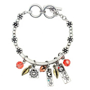 Garden Of Love Bracelet, 'Happiness' - This Burnished Silver Charm Bracelet (Medium) With Reversible Inspirational Words Is The Perfect Gift For Any Occasion