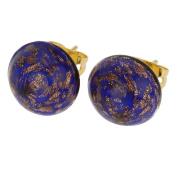 Starlight Small Stud Earrings - Navy Blue