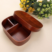 AsentechUK® Japanese Style Wooden Reusable Lunch Box Bento Box Food Fruit Sushi Boxes