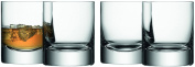 LSA International G068-10-991 Bar Double Old Fashioned Tumbler (4 Pack), 250ml, Clear