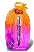 Official Licenced Trolls Chunky 6 Colour Multicolour Pen